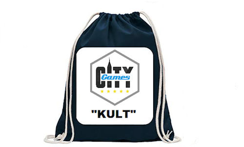 CityGames Bochum JGA Männer Tour: Junggesellenabschied Backpack Turnbeutel Proviant